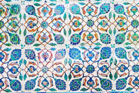 Handmade Blue Tiles from Topkapi Palace Stock Photo - 18928301