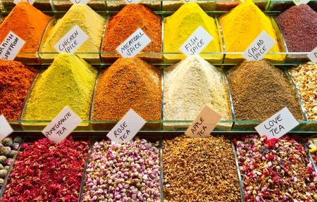 Teas and Spices 免版税图像