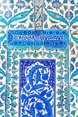 Handmade Blue Tiles from Topkapi Palace Stock Photo - 19475766