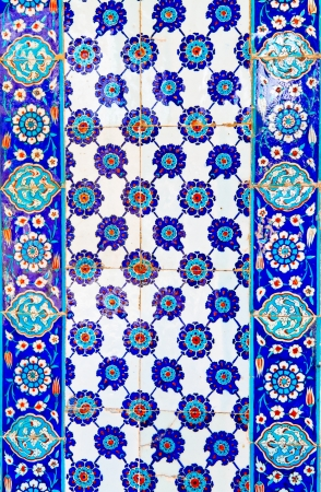 Handmade Turkish Blue Tile 版權商用圖片