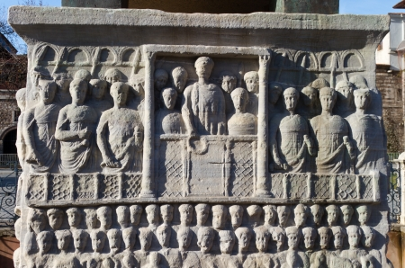 Base of the Obelisk of Theodosius from Istanbul, Turkey photo