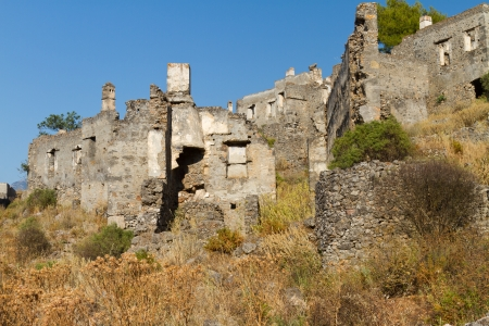 Ruins of Kayakoy, Fethiye Stock Photo - 19840345