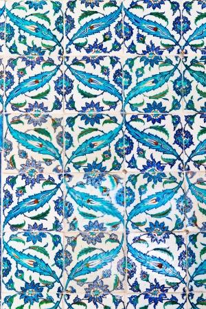 Handmade Blue Tiles from Topkapi Palace Stock Photo - 21352047