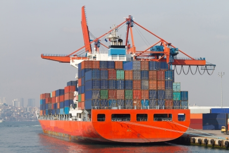 Container Ship Stock Photo - 21352372