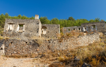 Ruins of Kayakoy, Fethiye Stock Photo - 21498212