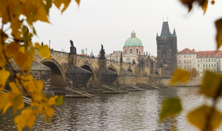 Charles Bridge, Prague, Czech Republic 版權商用圖片