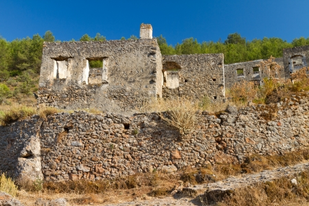 Ruins of Kayakoy, Fethiye Stock Photo - 21500127