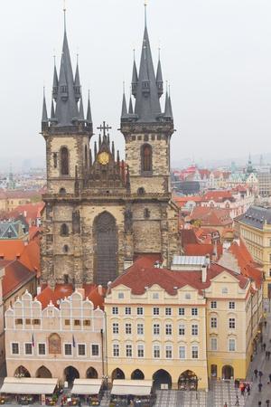 tyn: Church of Our Lady before Tyn, Prague, Czech Republic Stock Photo