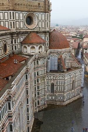 polychrome: Florence Cathedral, Florence, Italy Stock Photo
