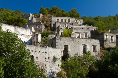 Ruins of Kayakoy, Fethiye Stock Photo - 21627610