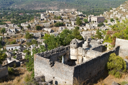 Ruins of Kayakoy, Fethiye Stock Photo - 21627079