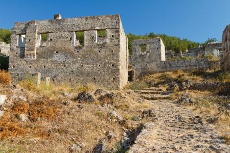 Ruins of Kayakoy, Fethiye Stock Photo - 21626814