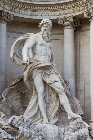 Oceanus in the Fontana di Trevi, Rome, Italy photo