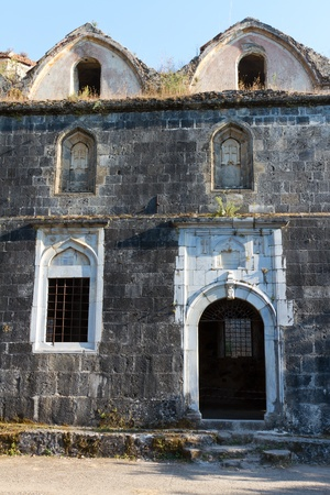 makri: Lower Church from Kayakoy, Fethiye Stock Photo