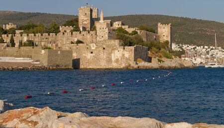 mugla: Bodrum Castle from Mugla, Turkey Stock Photo