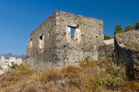 Ruins of Kayakoy, Fethiye Stock Photo - 21718454
