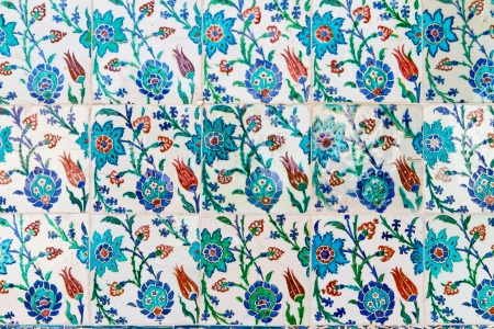 Handmade Blue Tiles from Topkapi Palace Stock Photo - 21718528