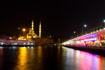 eminonu: Galata Bridge and Eminonu District Stock Photo