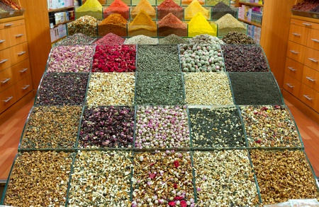 market place: Spices and teas