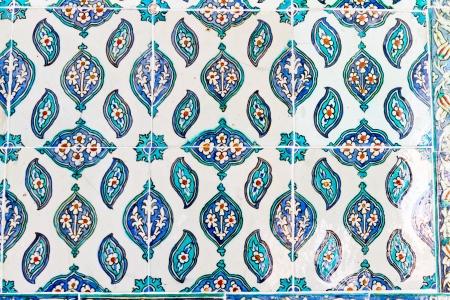 Handmade Blue Tiles from Topkapi Palace Stock Photo - 21718603