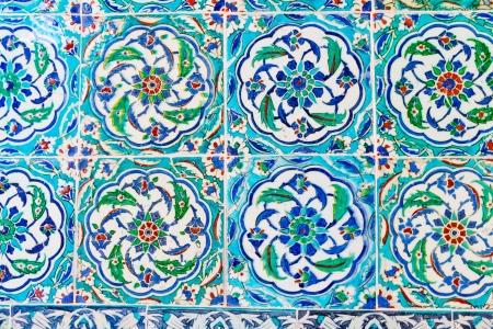 Handmade Blue Tiles from Topkapi Palace Stock Photo - 21718745