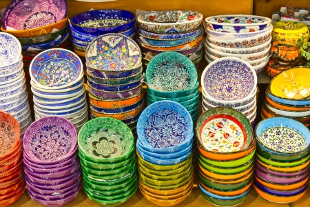 Turkish Ceramics from Grand Bazaar, Istanbul 版權商用圖片