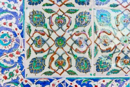Handmade Blue Tiles from Topkapi Palace Stock Photo - 21812685