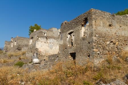 Ruins of Kayakoy, Fethiye Stock Photo - 21847687