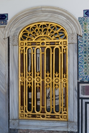 A Window from Topkapi Palace Stock Photo - 21837702