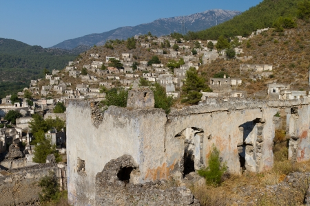 Ruins of Kayakoy, Fethiye Stock Photo - 21832501