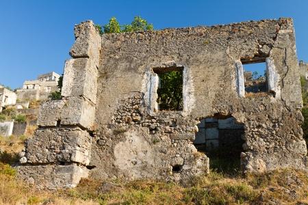 Ruined house from Kayakoy, Fethiye Stock Photo
