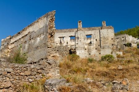 Ruins of Kayakoy, Fethiye Stock Photo - 21980847