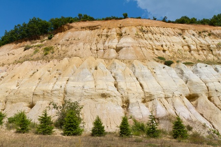 barrenness: Cracked sandstone hill