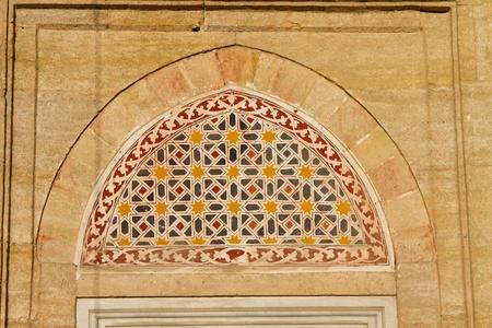 selimiye mosque: Window Decoration of Selimiye Mosque, Edirne, Turkey