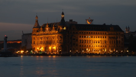haydarpasa: Haydarpasa Train Station, Istanbul, Turkey Stock Photo
