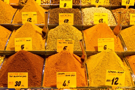 Spices in Spice Bazaar, Istanbul photo