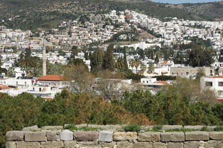 mugla: Bodrum Town, Mugla, Turkey Stock Photo