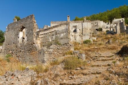 Ruins of Kayakoy, Fethiye Stock Photo - 22113941