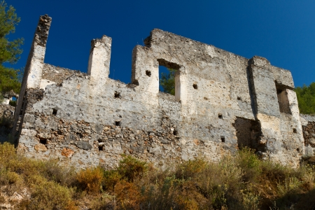 Ruined house from Kayakoy, Fethiye Stock Photo - 22144054