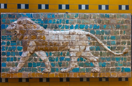 Glazed brick panel from way to Ishtar Gate