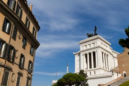 emmanuel: Monument of Victor Emmanuel II, Rome, Italy Stock Photo