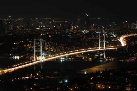 bogazici: Bosphorus Bridge, Istanbul, Turkey Stock Photo