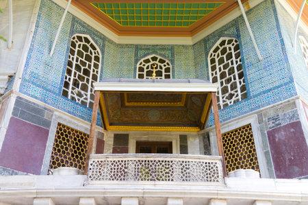 A balcony from Topkapi Palace Stock Photo - 22597167