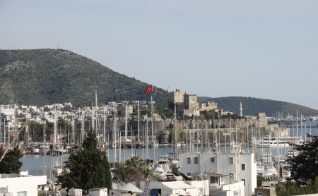 mugla: Bodrum Marina from Mugla, Turkey Stock Photo