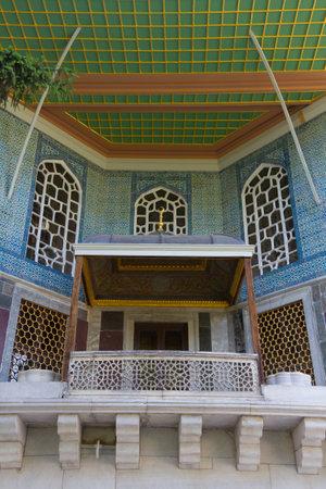 A balcony from Topkapi Palace Stock Photo - 22597178