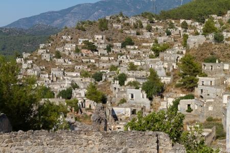 Ruins of Kayakoy, Fethiye Stock Photo - 22604805