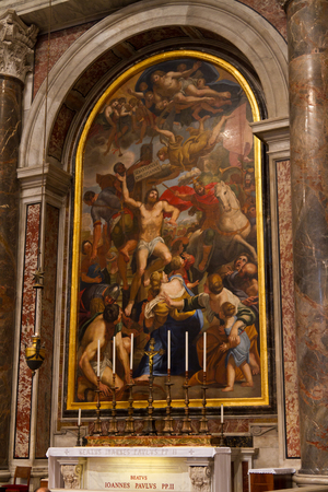 st  peter's basilica pope: Chapel of St  Sebastian, St  Peter s Basilica