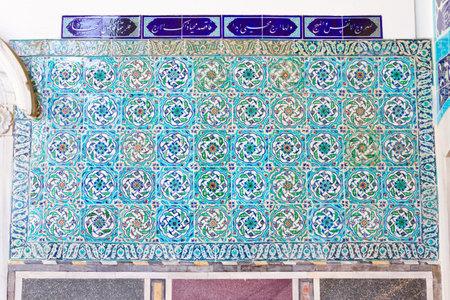 Handmade Blue Tiles from Topkapi Palace Stock Photo - 22656615