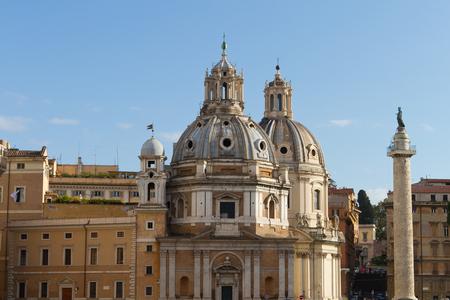santa maria: Santa Maria di Loreto, Rome, Italy Stock Photo
