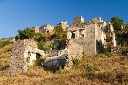 Ruins of Kayakoy, Fethiye Stock Photo - 22766873